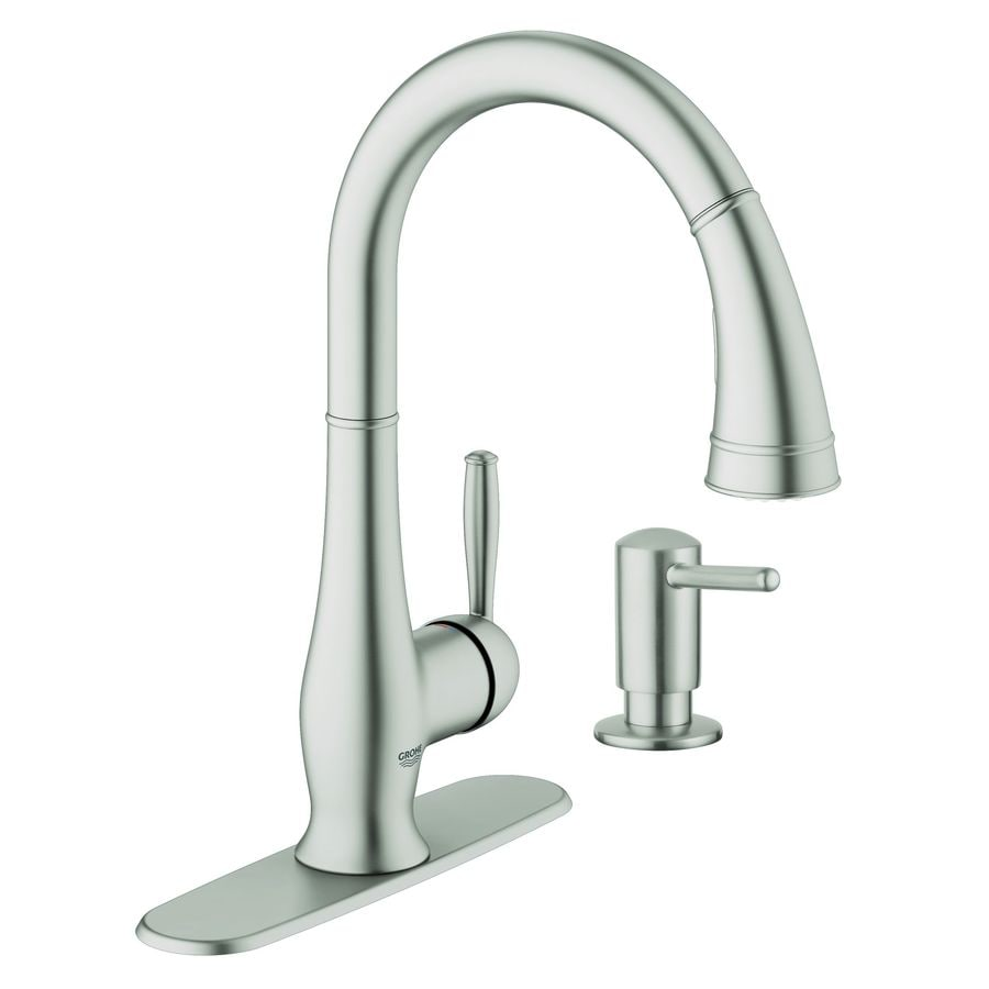Delightful GROHE Wexford SuperSteel Infinity 1 Handle Pull Down Kitchen Faucet