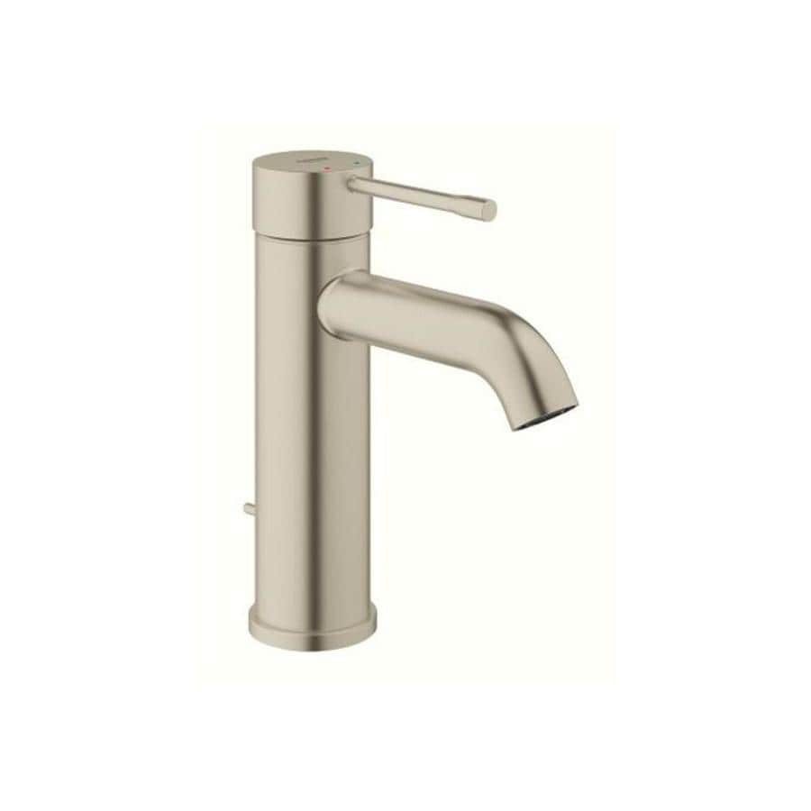 shop grohe essence brushed nickel 1-handle single hole bathroom