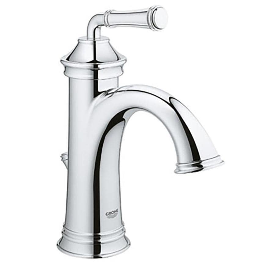GROHE Gloucester Chrome 1-Handle Single Hole/4-in Centerset WaterSense Bathroom Faucet (Drain Included)