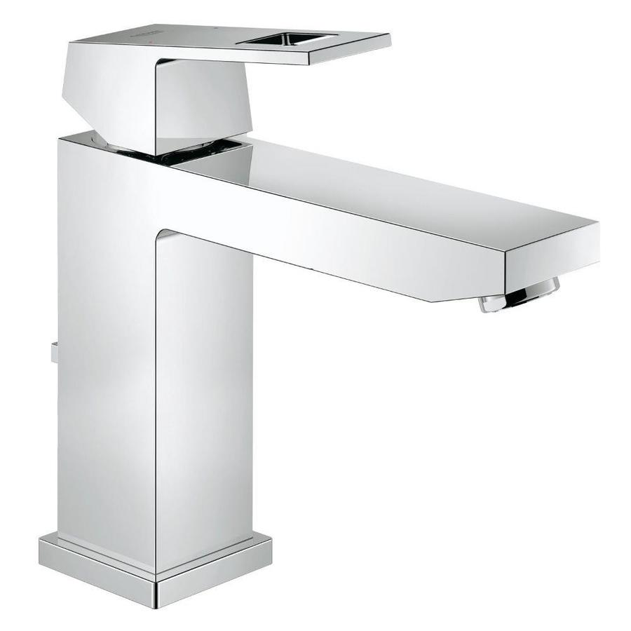 GROHE Eurocube Chrome 1-Handle Single Hole WaterSense Bathroom Faucet (Drain Included)