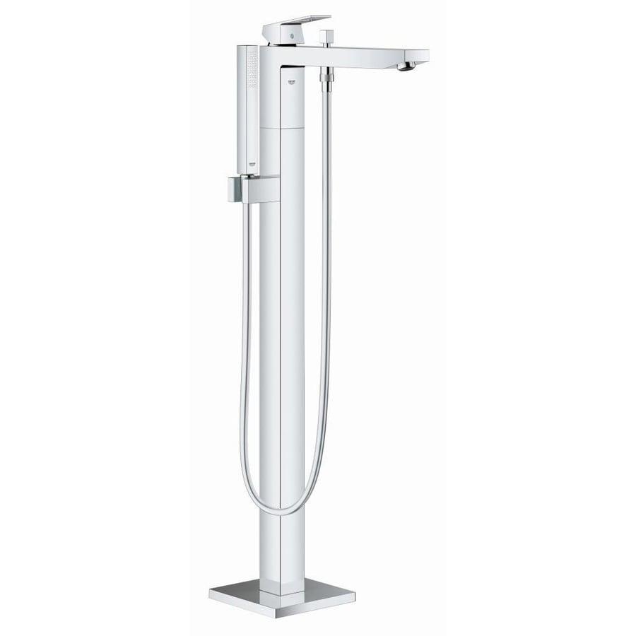 GROHE Eurocube Chrome 1-Handle Freestanding Bathtub Faucet