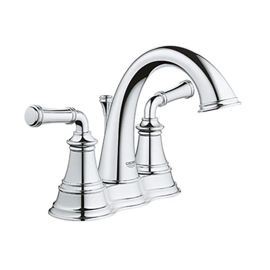 Shop Grohe Gloucester Chrome 2 Handle 4 In Centerset Bathroom Sink Faucet At