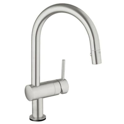 Minta Supersteel 1 Handle Deck Mount Pull Out Touch Kitchen Faucet