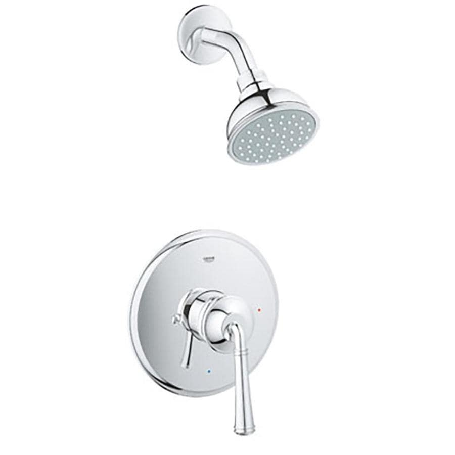 GROHE Gloucester Chrome 1-Handle WaterSense Shower Faucet with Single Function Showerhead