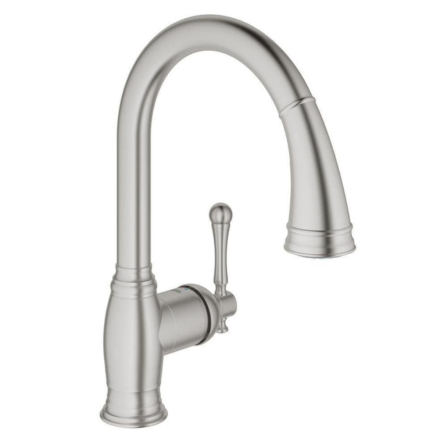 GROHE Bridgeford SuperSteel 1-Handle Pull-out Kitchen