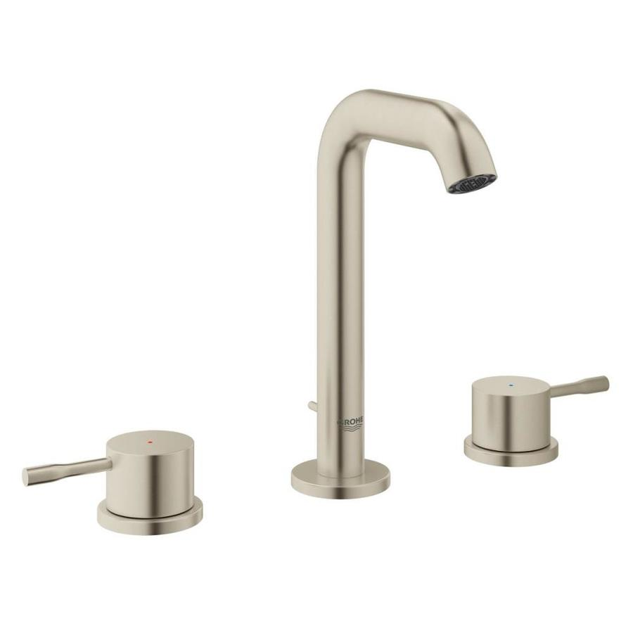 Grohe Essence New Brushed Nickel 2 Handle Widespread