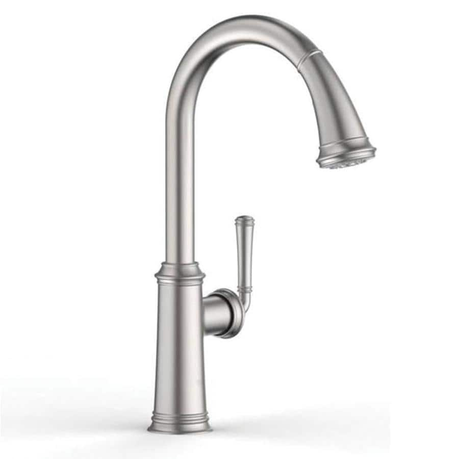 GROHE Gloucester Stainless Steel 1 Handle Deck Mount Pull Down Kitchen  Faucet