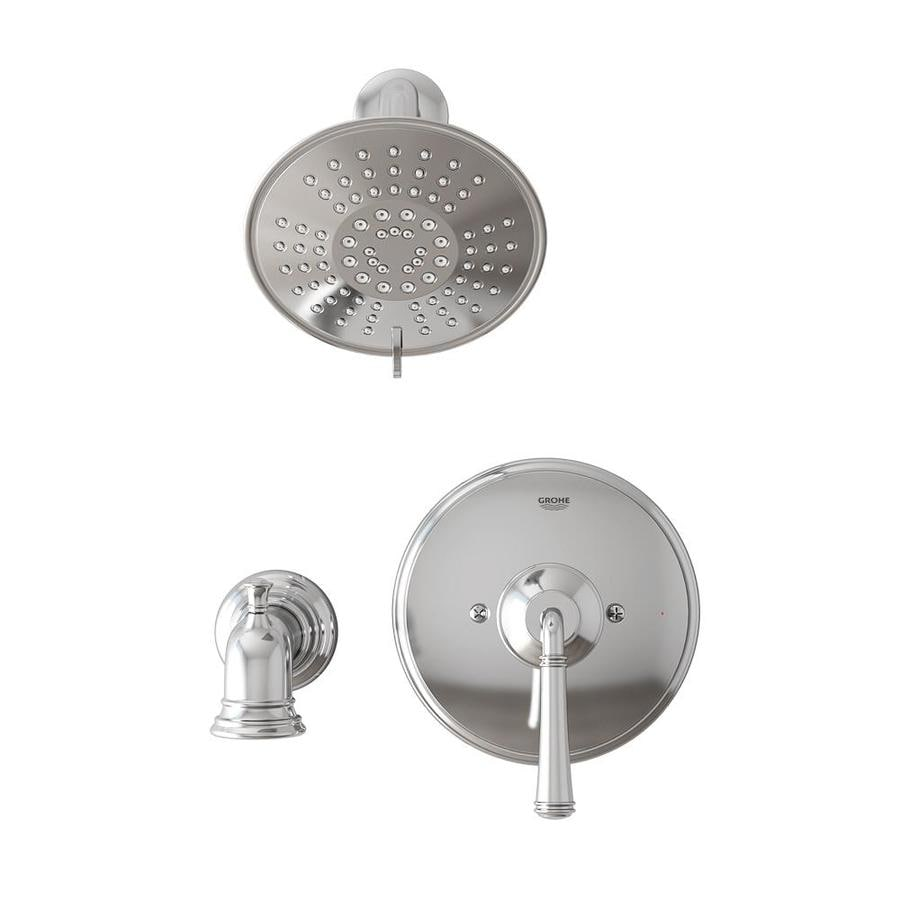 Shop GROHE Gloucester Chrome 1-Handle Bathtub and Shower Faucet with ...