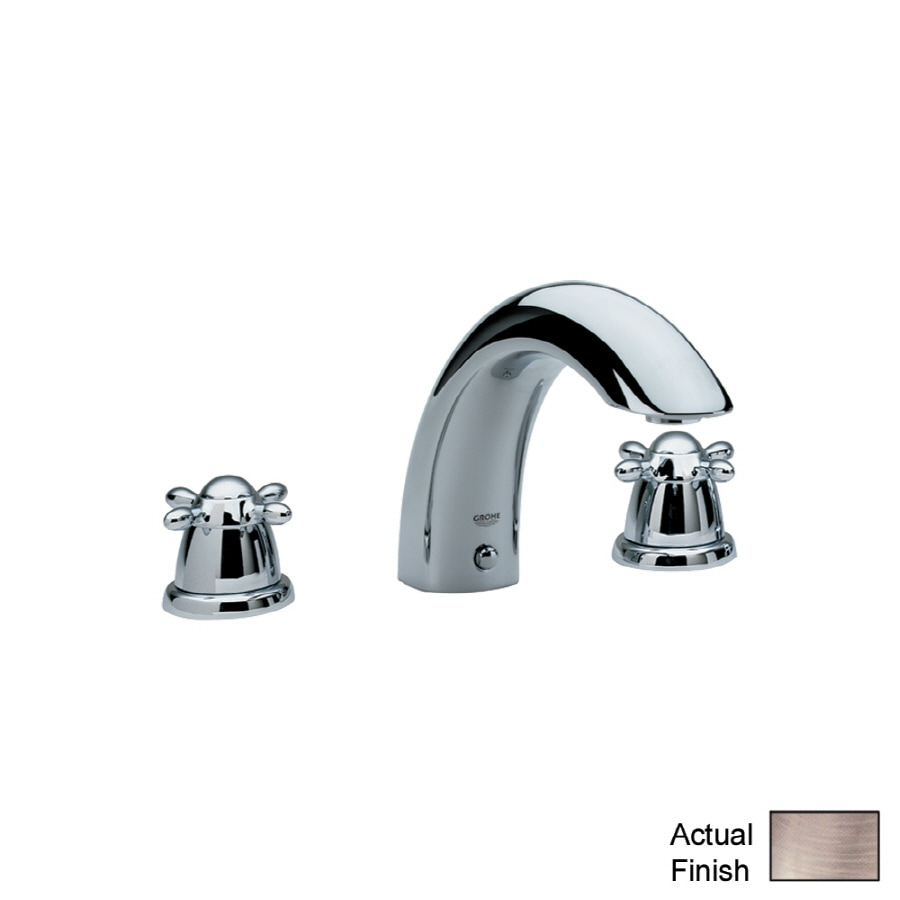 GROHE Talia Brushed Nickel 2-Handle Adjustable Deck Mount Tub Faucet
