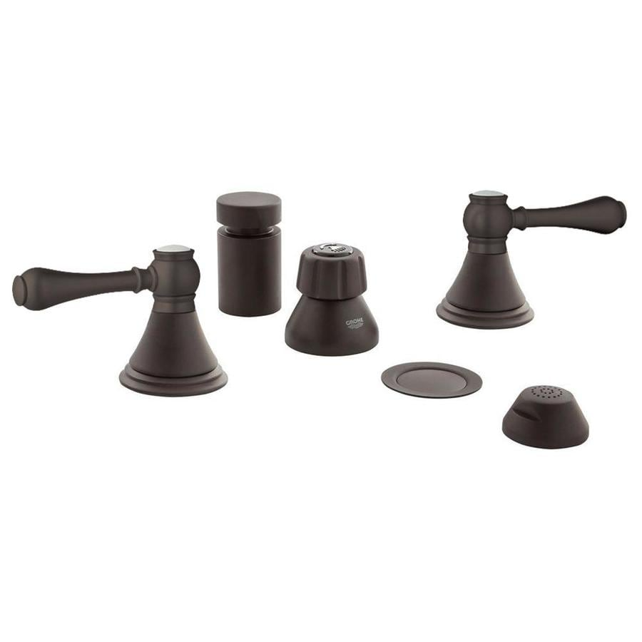 shop grohe geneva oil rubbed bronze vertical spray bidet faucet at. Black Bedroom Furniture Sets. Home Design Ideas