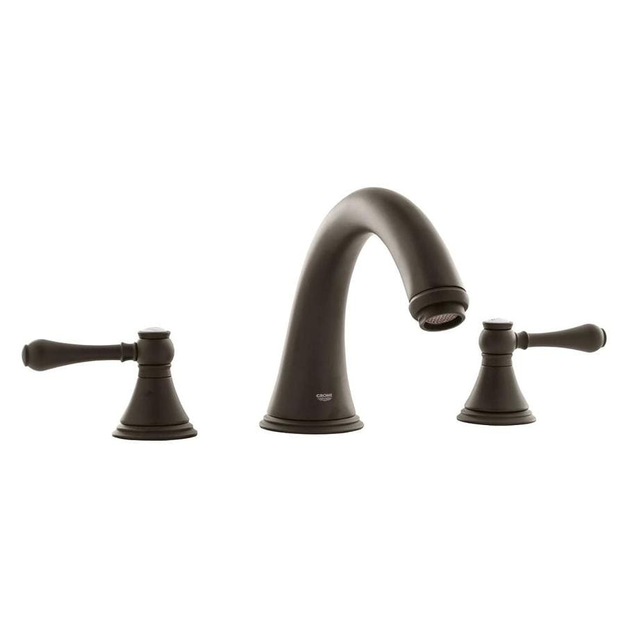 shop grohe geneva oil rubbed bronze 2 handle adjustable deck mount bathtub faucet at. Black Bedroom Furniture Sets. Home Design Ideas