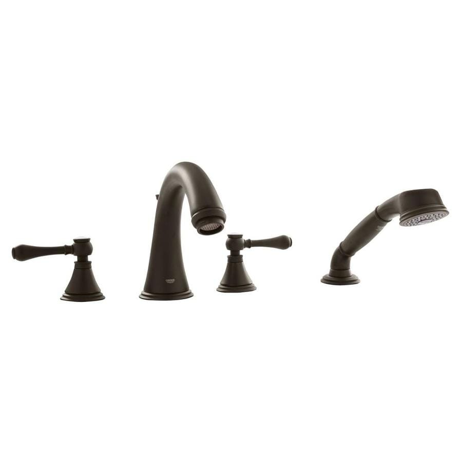 GROHE Geneva Oil Rubbed Bronze 2-Handle Fixed Deck Mount Bathtub Faucet