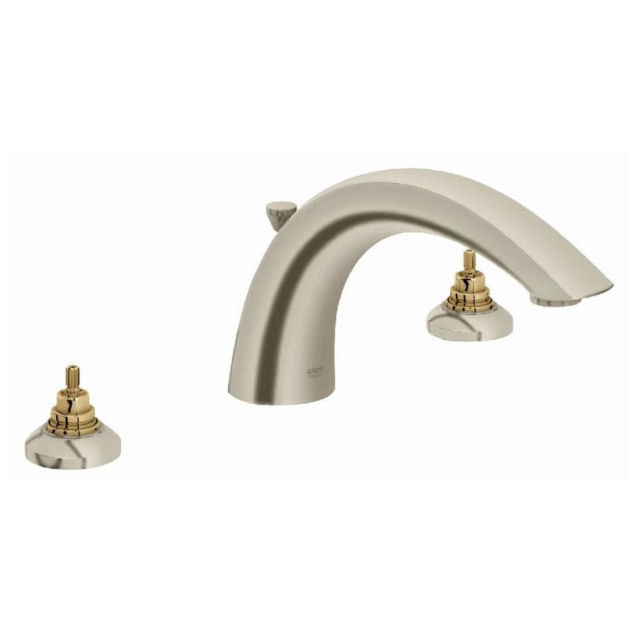 GROHE Arden Nickel 2-Handle Adjustable Deck Mount Bathtub Faucet