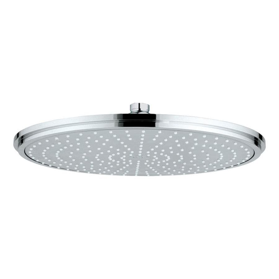 GROHE 16-in 2.5-GPM (9.5-LPM) Chrome 1-Spray Rain Showerhead