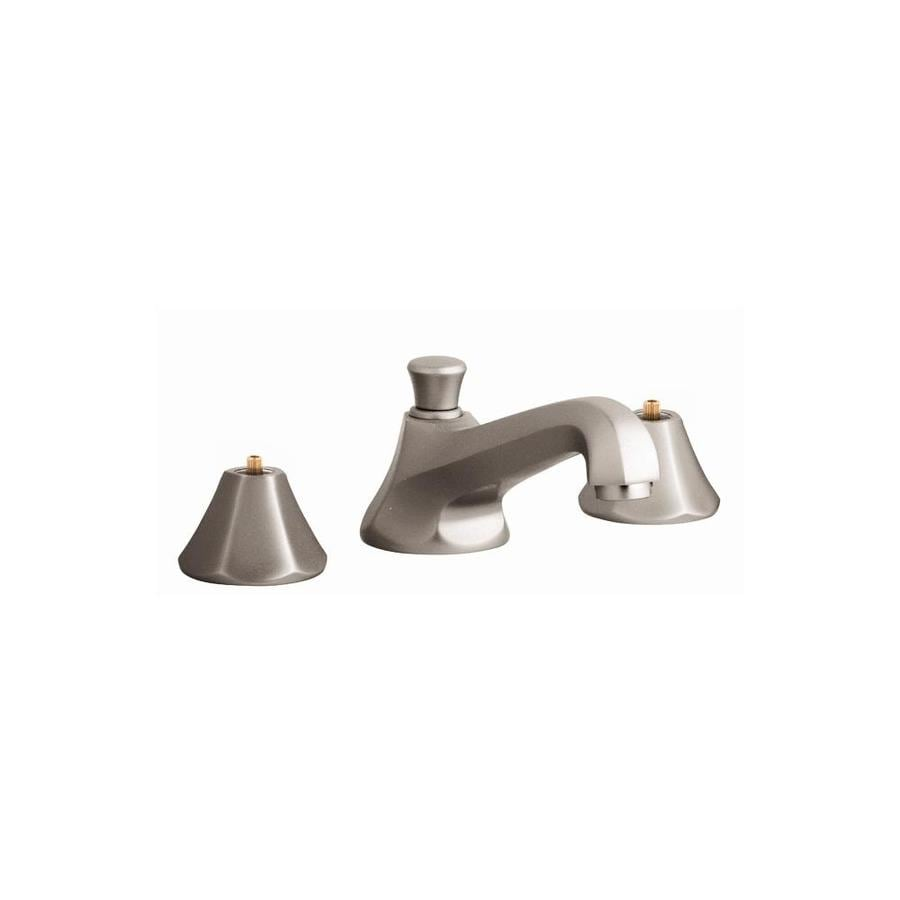 GROHE Somerset Brushed Nickel 2-Handle Widespread WaterSense Bathroom Faucet (Drain Included)