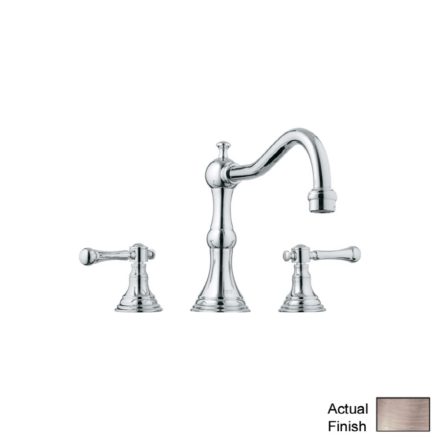 GROHE Bridgeford Brushed Nickel 2-Handle Adjustable Deck Mount Bathtub Faucet
