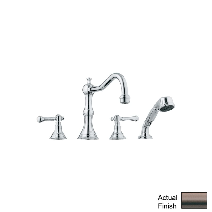 GROHE Bridgeford Bronze 2-Handle Adjustable Deck Mount Tub Faucet