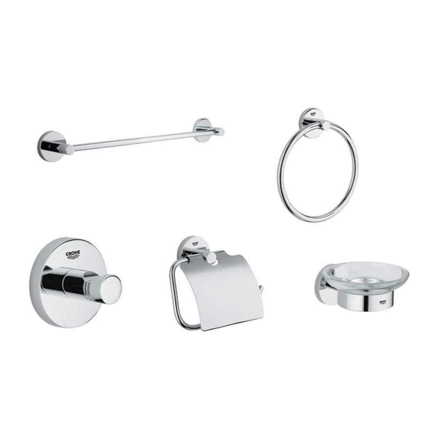GROHE Essentials Starlight Chrome Brass Bathroom Coordinate Set