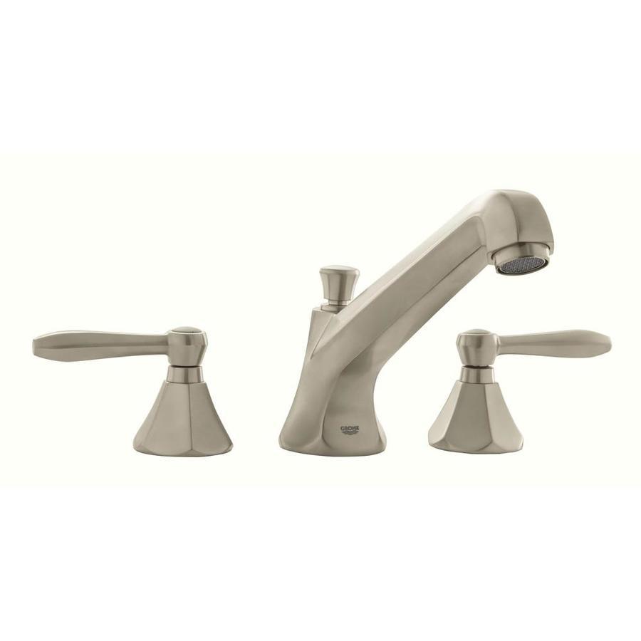 GROHE Somerset Brushed Nickel 2-Handle Adjustable Deck Mount Bathtub Faucet