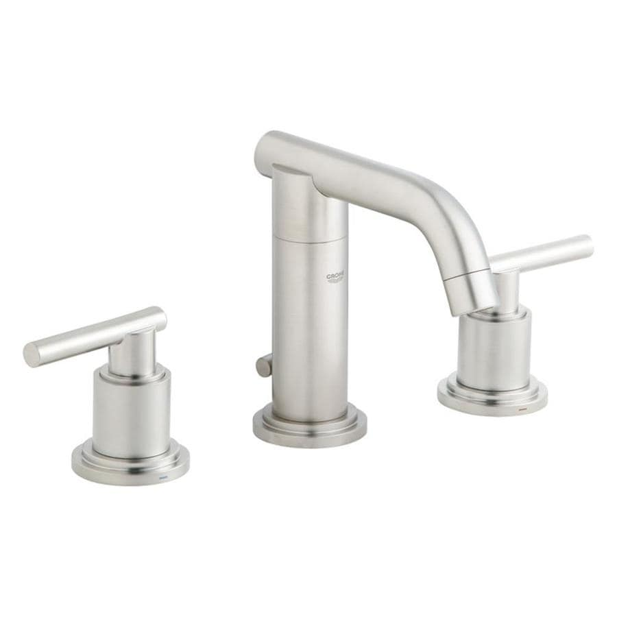 Shop Grohe Atrio Brushed Nickel 2 Handle Widespread Bathroom Faucet At