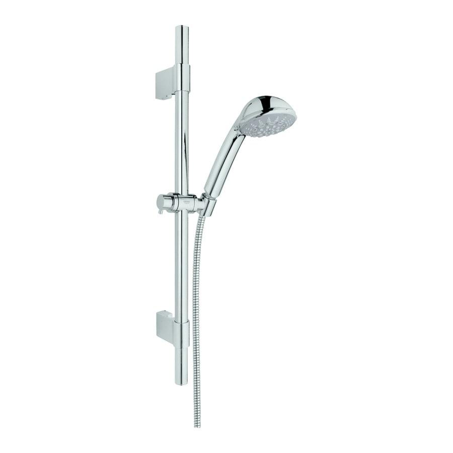 GROHE Relexa Ultra 3.75-in 2.5-GPM (9.5-LPM) Starlight Chrome 5-Spray Hand Shower