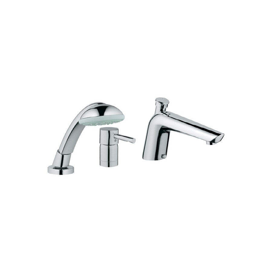 GROHE Essence Starlight Chrome 1-Handle Adjustable Deck Mount Tub Faucet