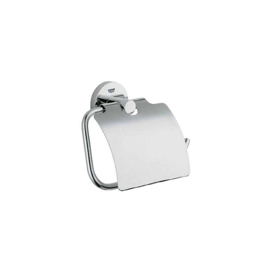 GROHE Essentials Starlight Chrome Surface Mount Toilet Paper Holder