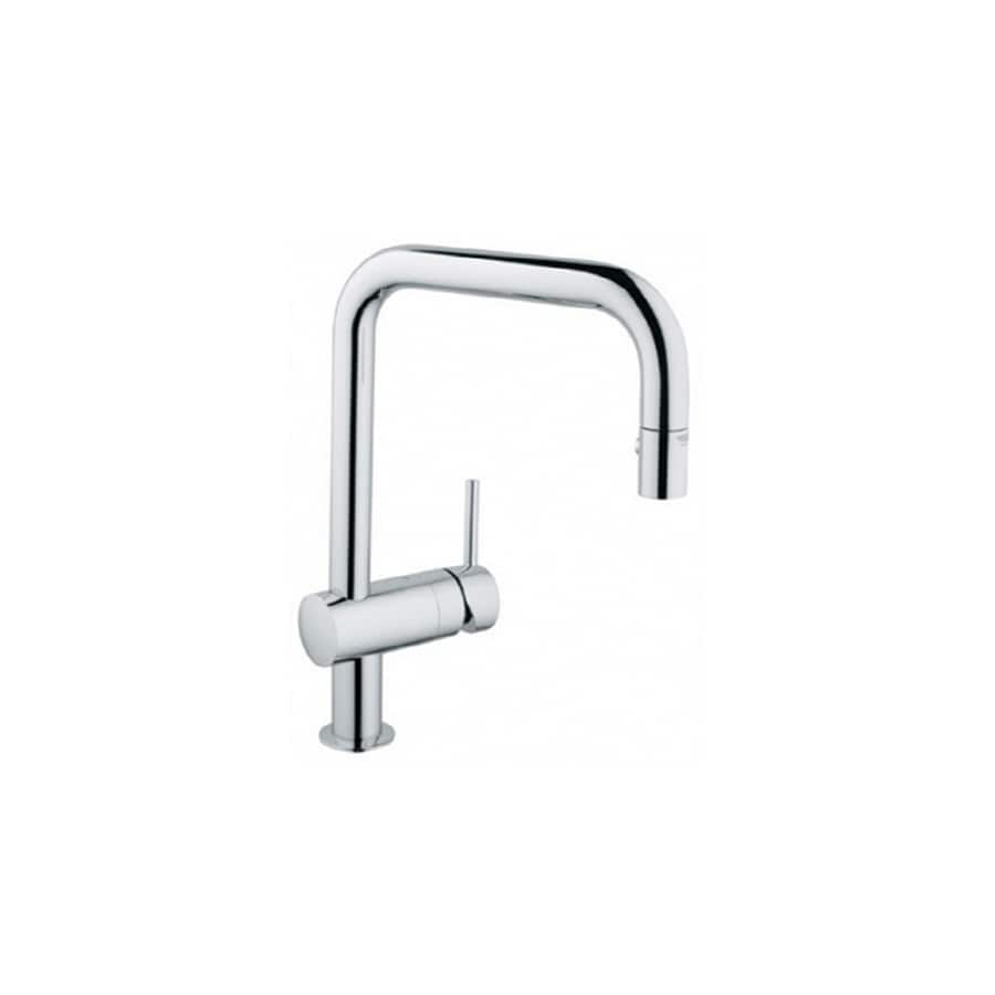 shop grohe minta chrome 1 handle deck mount pull down. Black Bedroom Furniture Sets. Home Design Ideas