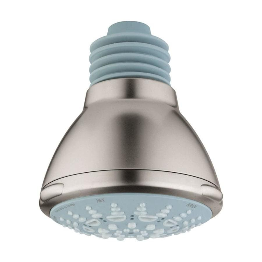 GROHE Relexa Ultra 5 3.9375-in 2.5-GPM (9.5-LPM) Brushed Nickel 5-Spray Showerhead
