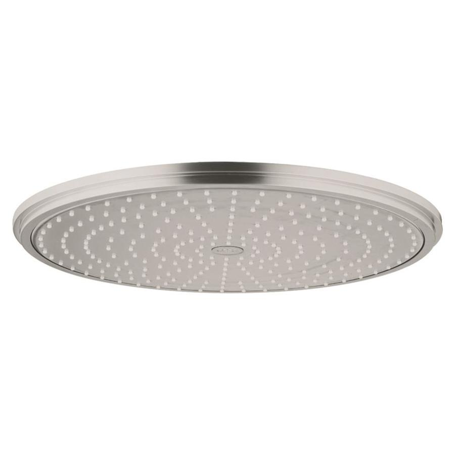 GROHE Rainshower 16-in 2.5-GPM (9.5-LPM) Brushed Nickel 1-Spray Rain Showerhead