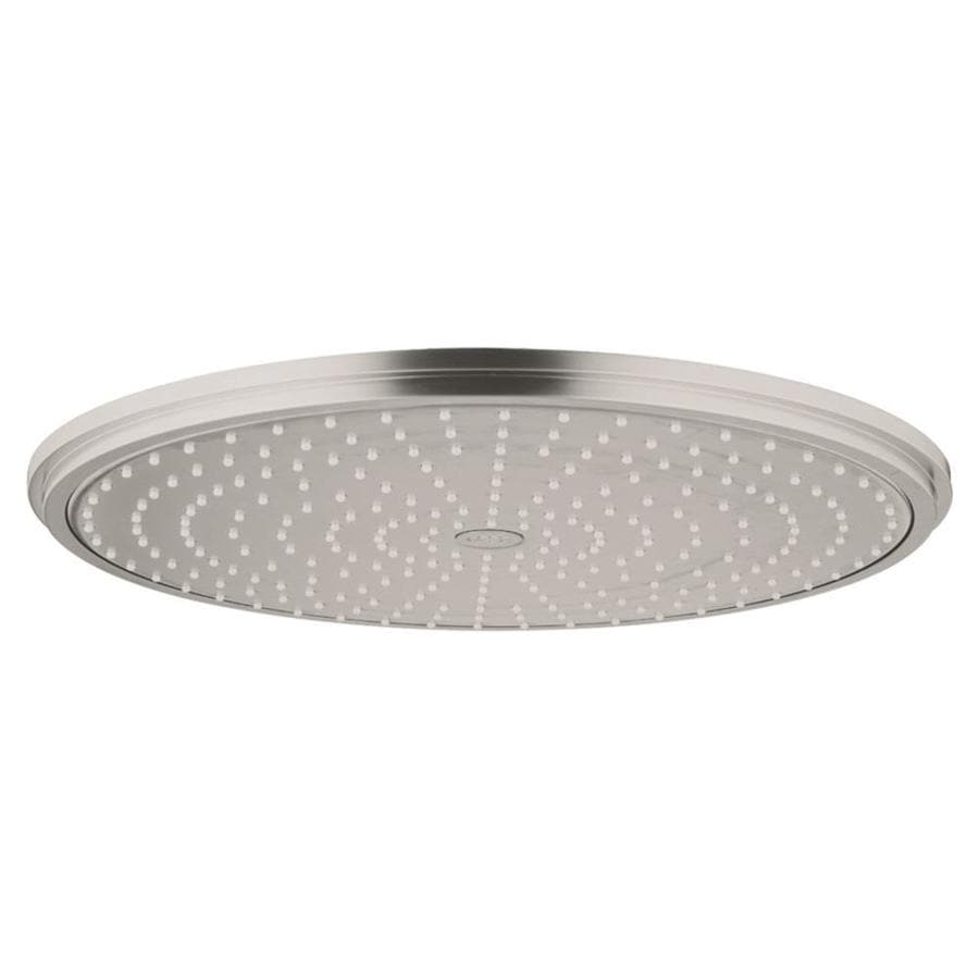 shop grohe rainshower brushed nickel 1-spray shower head at lowes