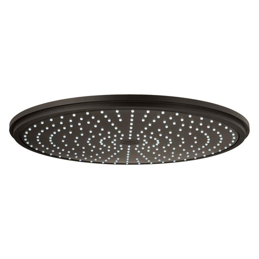 GROHE Rainshower 16-in 2.5-GPM (9.5-LPM) Oil-Rubbed Bronze 1-Spray Rain Showerhead