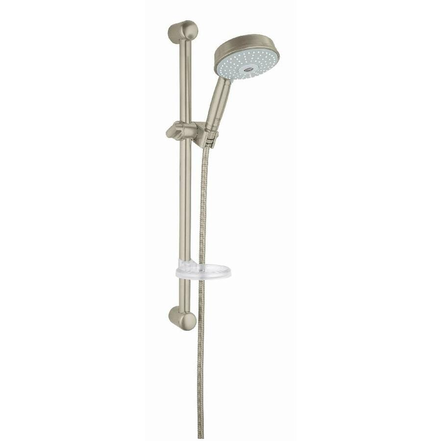GROHE Rainshower 5-in 2.5-GPM (9.5-LPM) Brushed Nickel 3-Spray Hand Shower