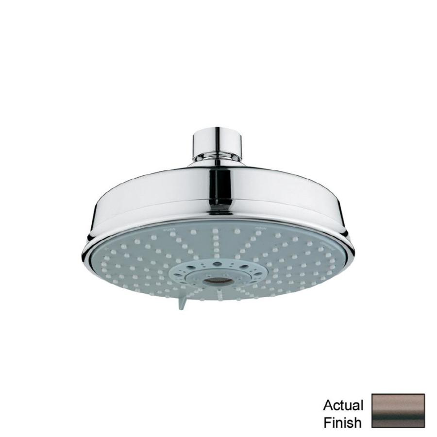 GROHE Rainshower 6.25-in 2.5-GPM (9.5-LPM) Oil-Rubbed Bronze 4-Spray Rain Showerhead