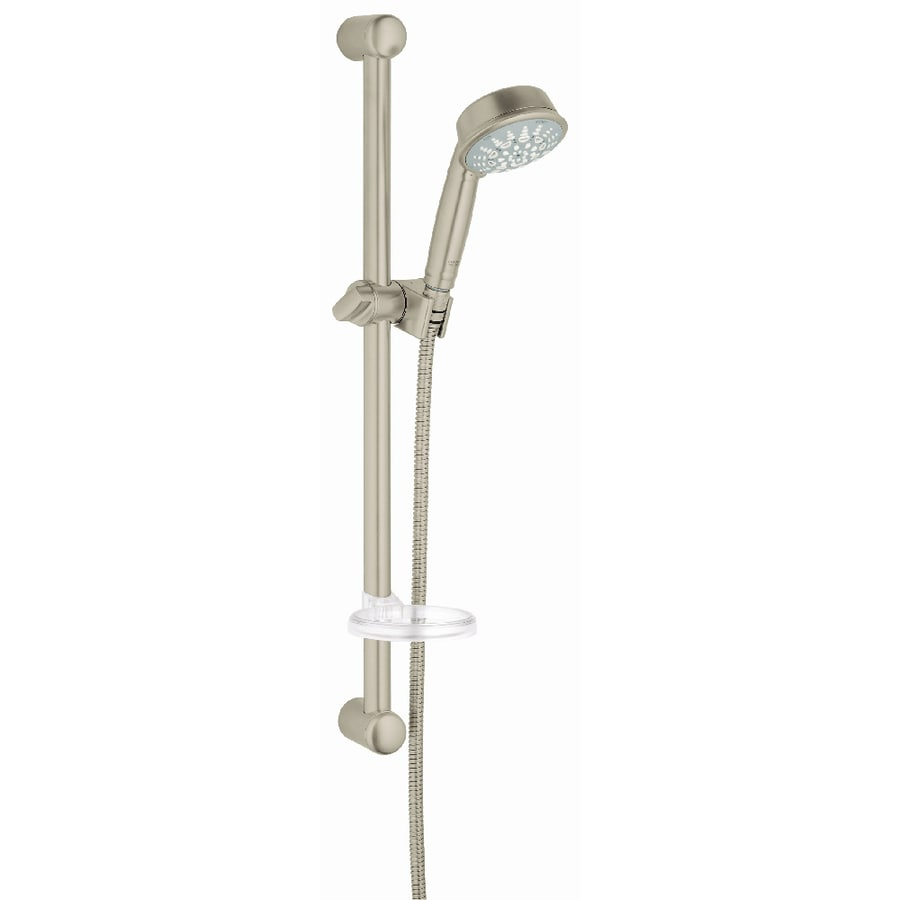 GROHE Relexa Rustic 3.75-in 2.5-GPM (9.5-LPM) Brushed Nickel 5-Spray Hand Shower