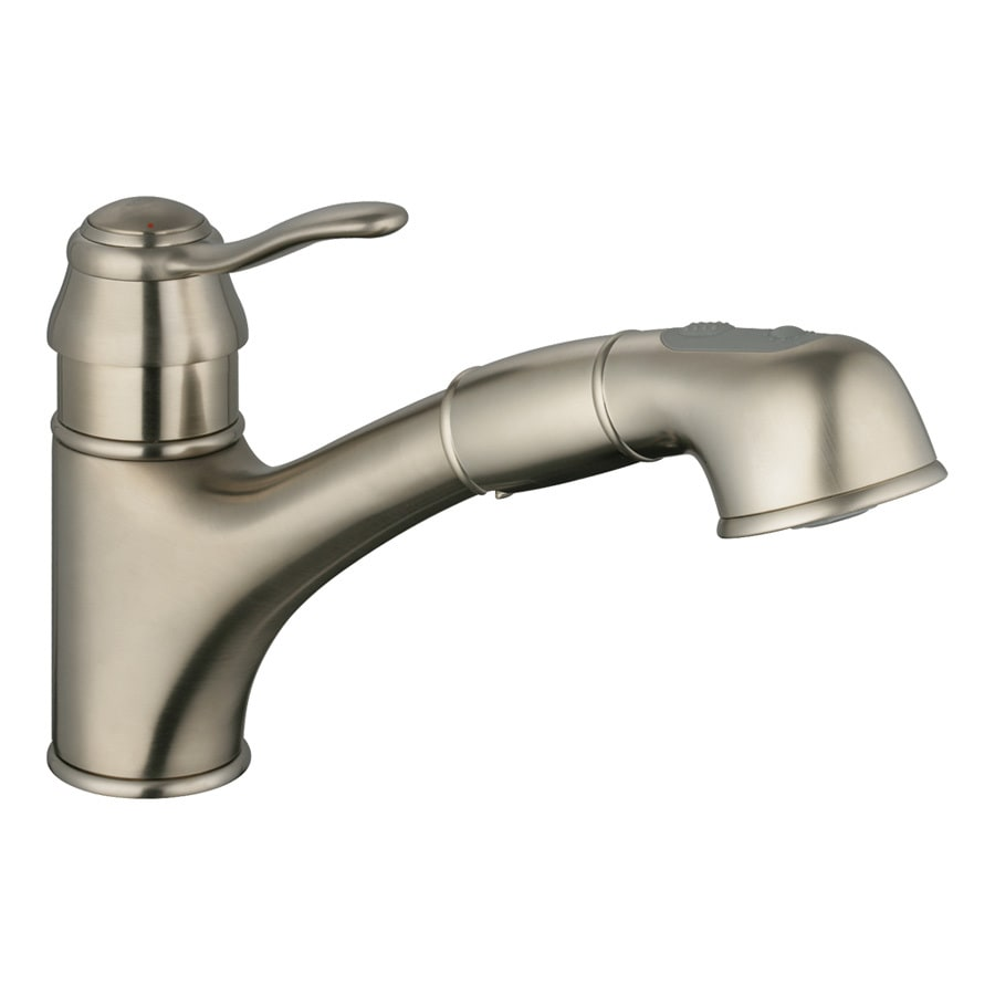 Shop grohe ashford brushed nickel 1 handle pull out for Grohe faucets