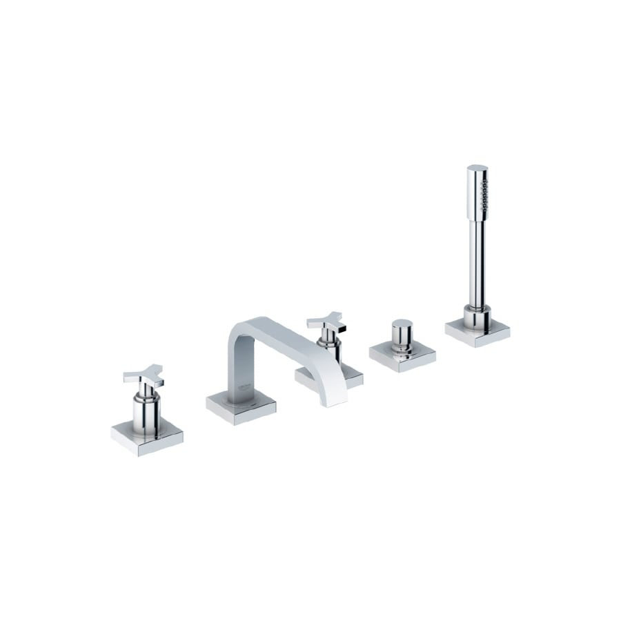 GROHE Allure Chrome 2-Handle Adjustable Deck Mount Tub Faucet