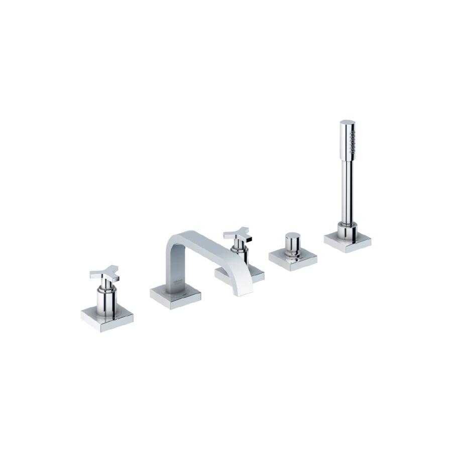GROHE Allure Chrome 2-Handle Adjustable Deck Mount Bathtub Faucet