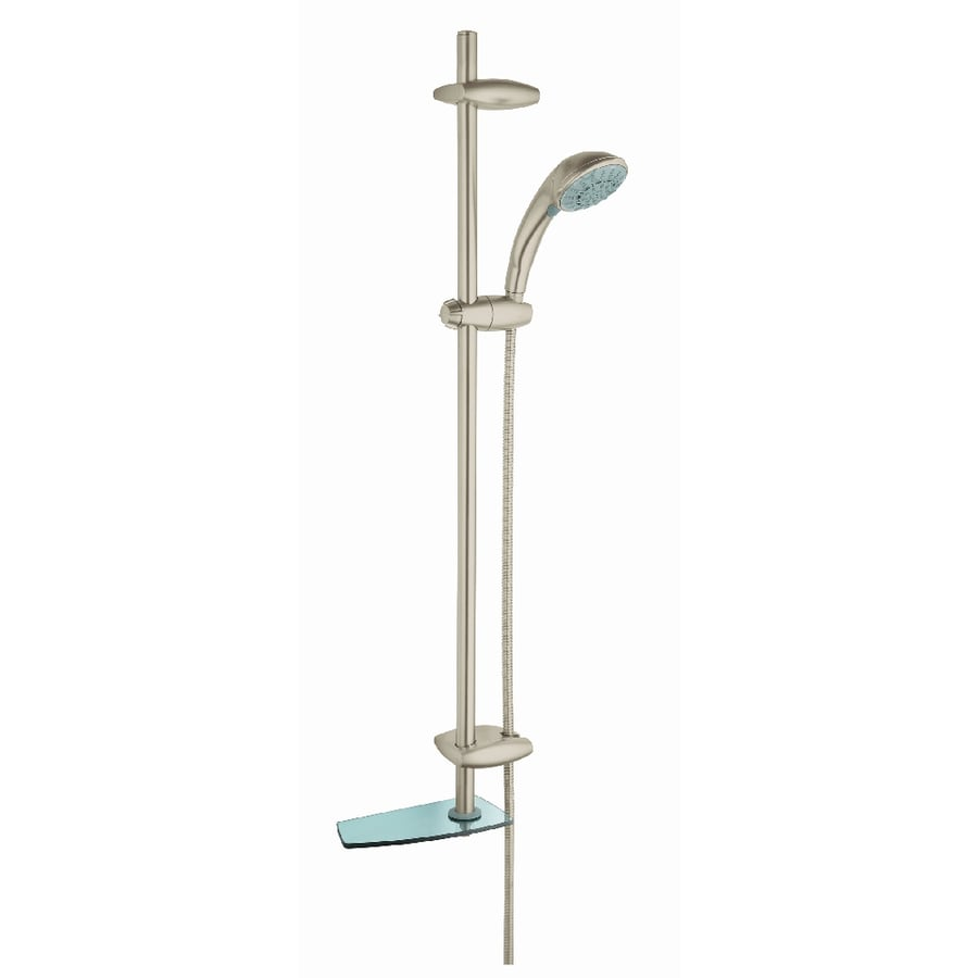 GROHE Movario 3.94-in 2.5-GPM (9.5-LPM) Brushed Nickel 5-Spray Hand Shower