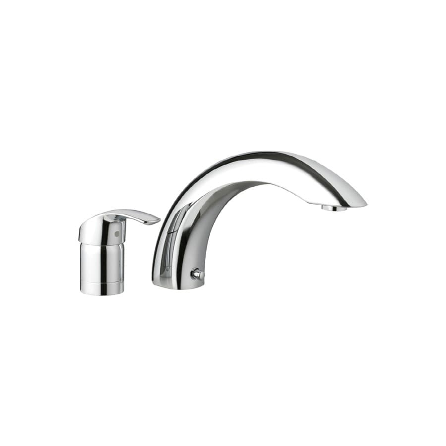 GROHE Eurosmart Chrome 1-Handle Adjustable Deck Mount Bathtub Faucet