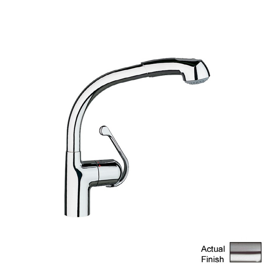 GROHE Ladylux Plus Stainless Steel Single Handle Kitchen Faucet With  Pull Out Spray