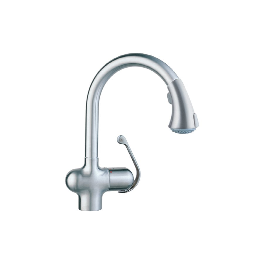 Shop GROHE Ladylux Cafe Stainless Steel Pull-Down Kitchen Faucet at ...