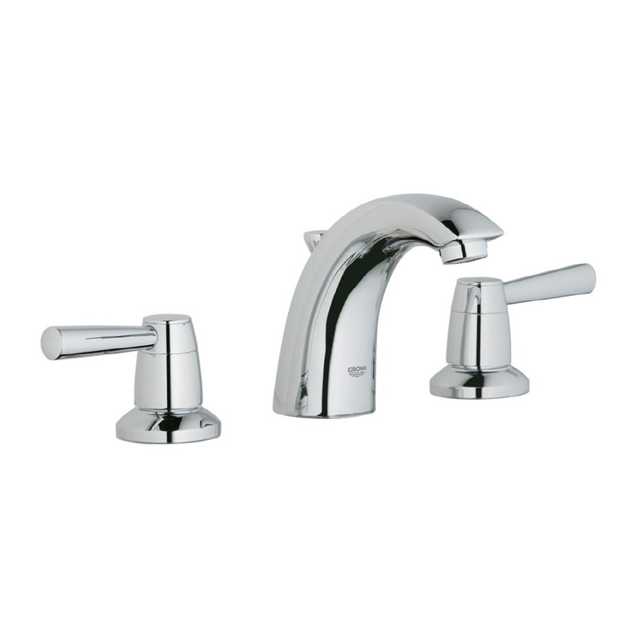 GROHE Arden Chrome 2-Handle Widespread WaterSense Bathroom Sink Faucet (Drain Included)