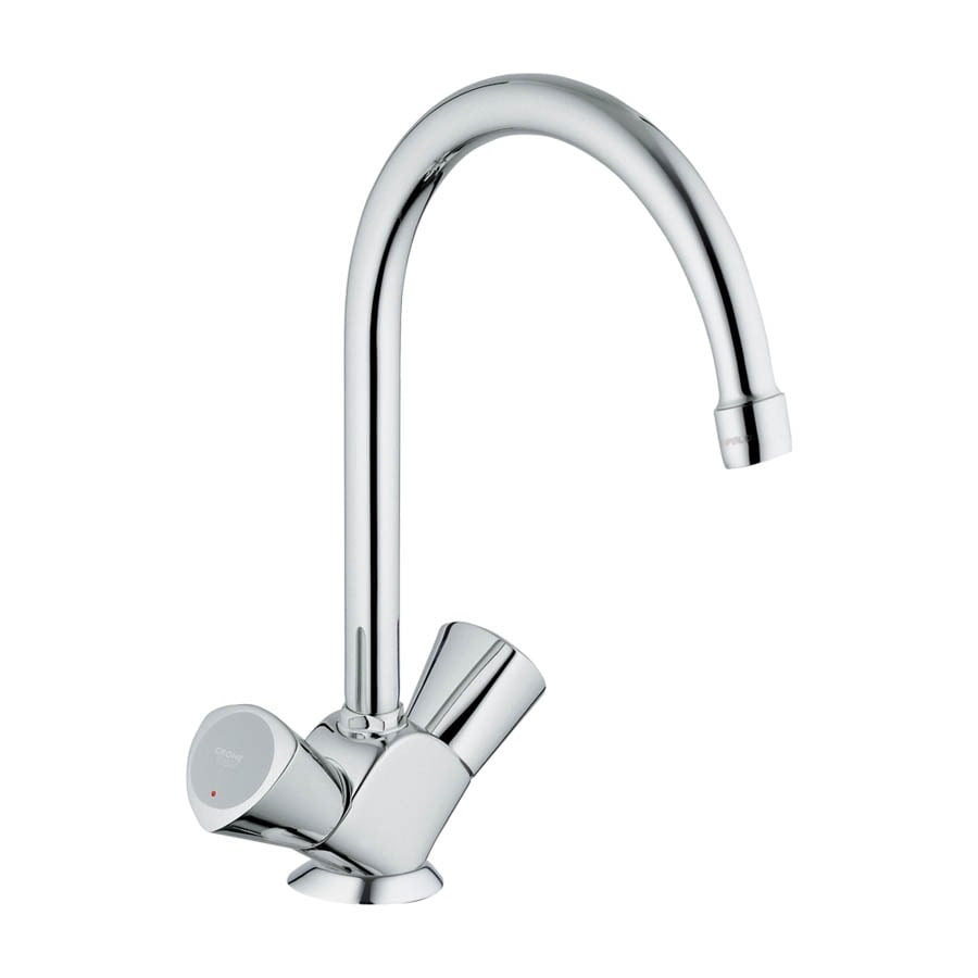GROHE Classic Ll Starlight Chrome 2-Handle High-Arc Kitchen Faucet