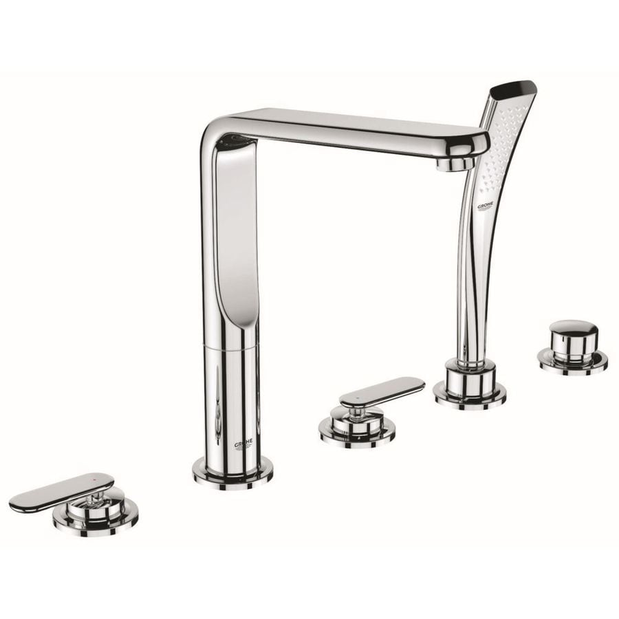 GROHE Veris Starlight Chrome 2-Handle Fixed Deck Mount Tub Faucet