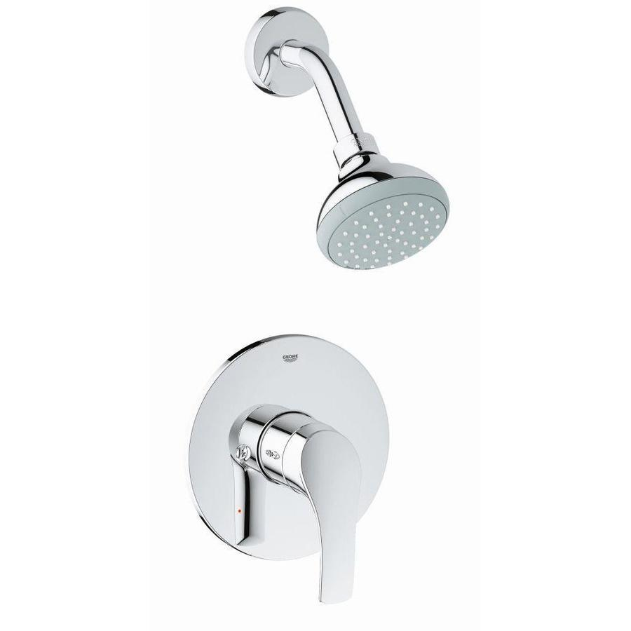GROHE Eurosmart 3.9375-in 1.75-GPM (6.6-LPM) Chrome 2-Spray WaterSense Showerhead