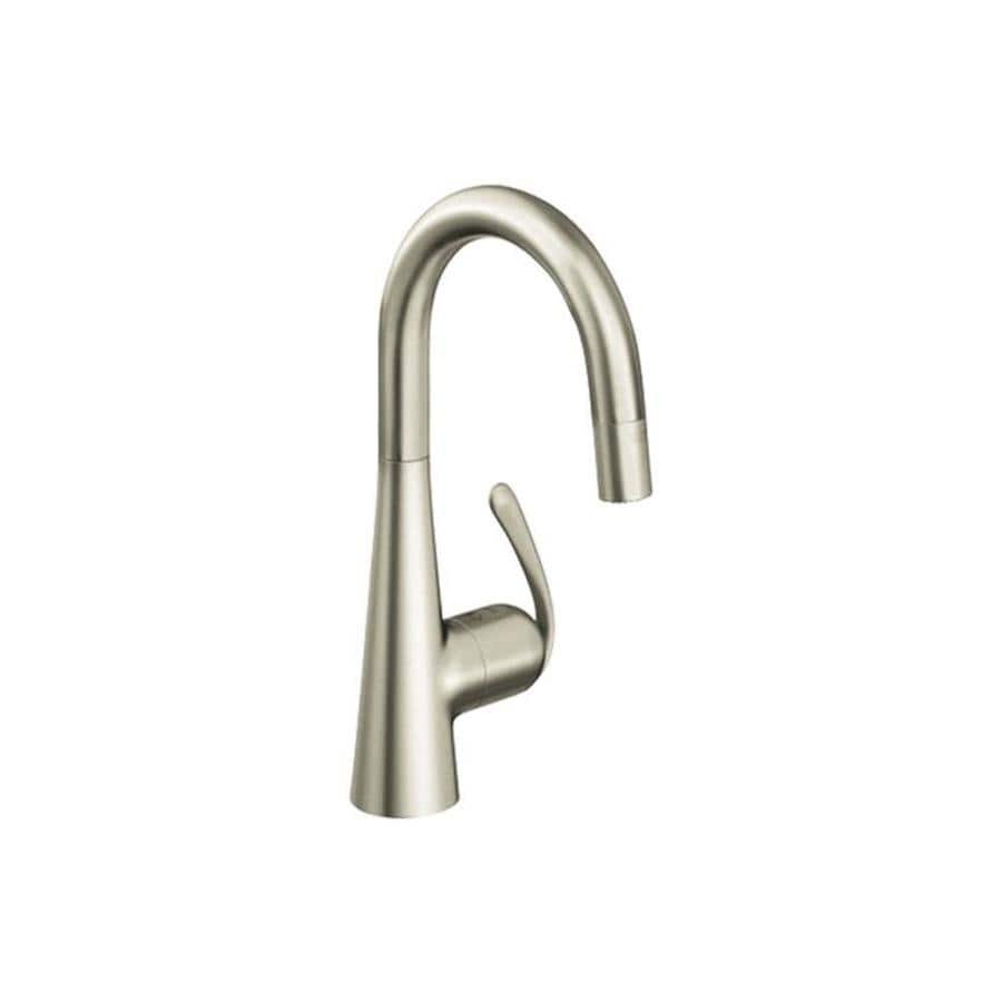 GROHE Ladylux SuperSteel 1-Handle Deck Mount Pull-Down Kitchen Faucet