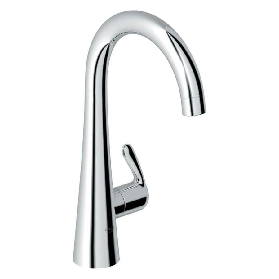 grohe ladylux faucet pro grohe ladylux starlight chrome 1handle pullout kitchen faucet shop