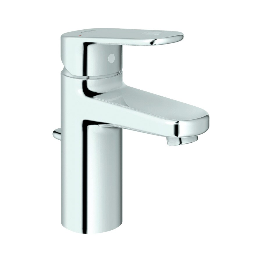 GROHE Europlus StarLight Chrome 1-Handle Single Hole WaterSense Bathroom Faucet (Drain Included)