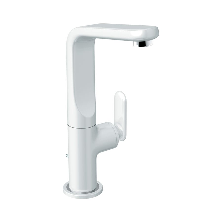 GROHE Ondus Veris Moon White 1-Handle Single Hole/4-in Centerset WaterSense Bathroom Sink Faucet (Drain Included)